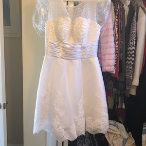 BRAND NEW NEVER WORN white Sherri hill dress